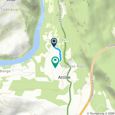 Relaxed route in Clarafond-Arcine