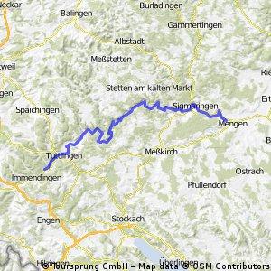 Donauradweg Moehringen-Mengen
