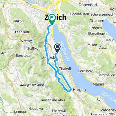 Langsame Fahrt in Zürich