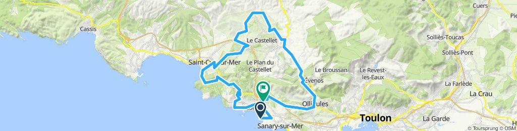 Gemütliche Route in Sanary-sur-Mer