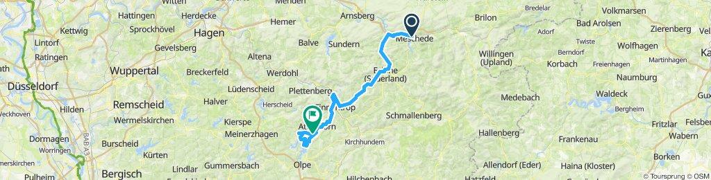 Ruhr-Sieg-Radweg Tag 1