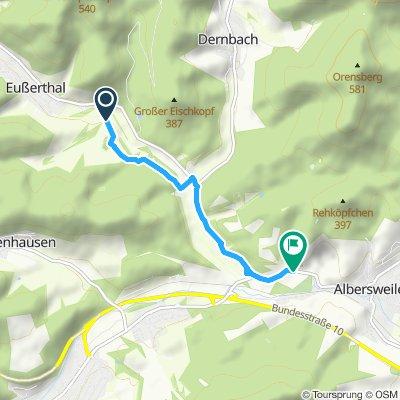 Route im Schneckentempo in Annweiler am Trifels
