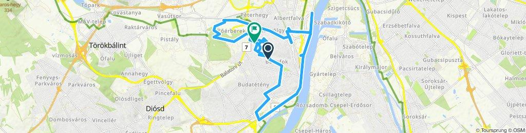 Slow ride in Budapest XXII. kerület