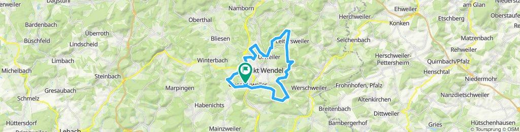Gerade Fahrt in St. Wendel