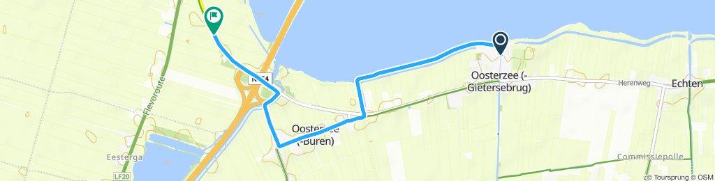 Route im Schneckentempo in Follega