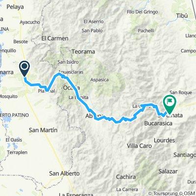 Vuelta a Colombia inventada etapa 6 Aguachica- Sardinata