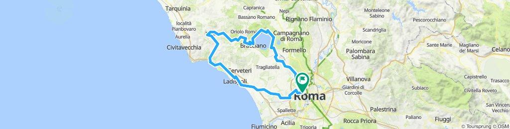 Roma - Bracciano - Tolfa - Ladispoli - Roma
