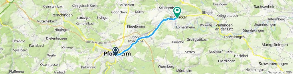 Langsame Fahrt in Mühlacker