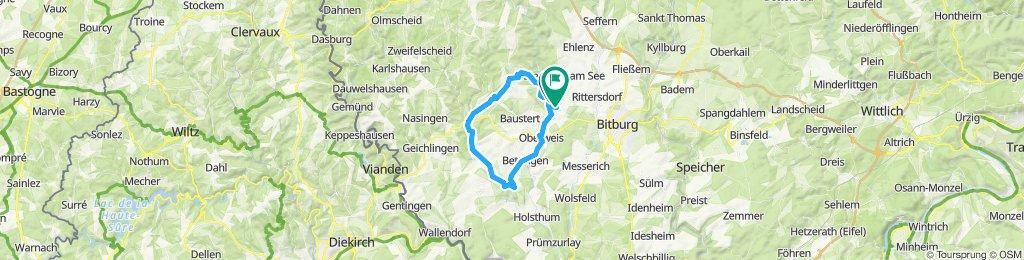 Gerade Fahrt in Wißmannsdorf