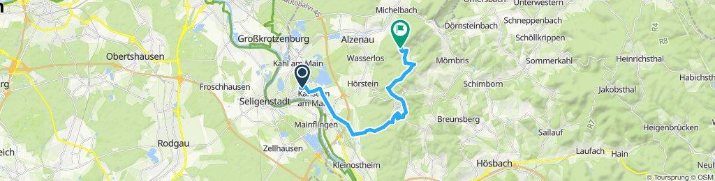 Route zum Hahnenkamm