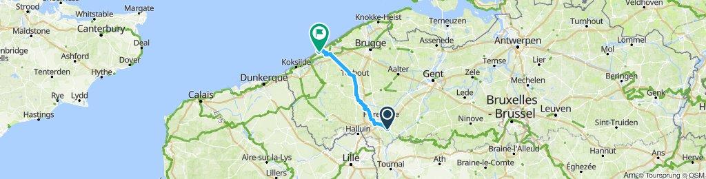 Slow ride in Middelkerke