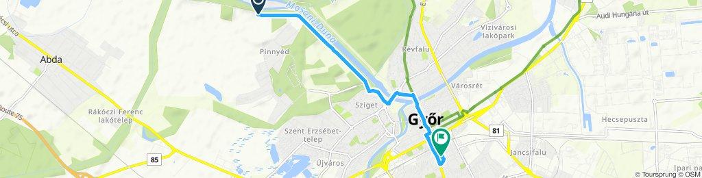 Steady ride in Győr