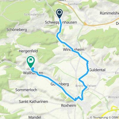 Gemütliche Route in Wallhausen
