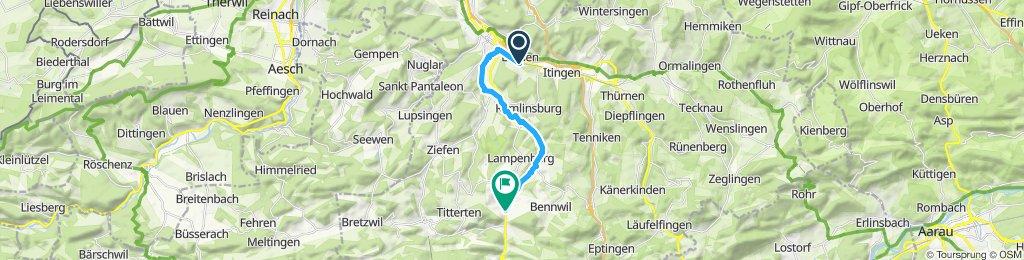 Gerade Fahrt in Niederdorf