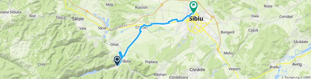 Snail-like route in Sibiu