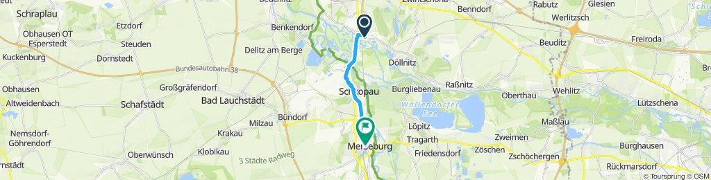 Langsame Fahrt in Leipzig
