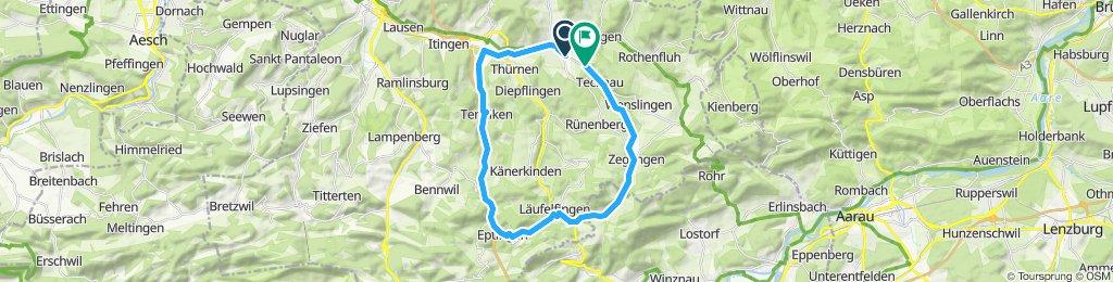 Route im Schneckentempo in Gelterkinden