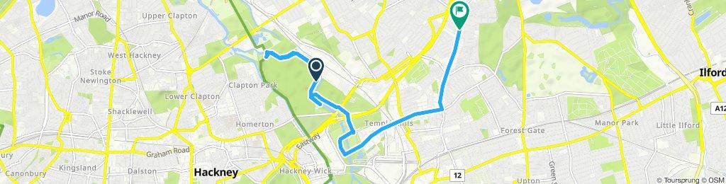 Snail-like route in London