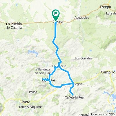 Osuna-El Saucejo- Almargen- Cañete la Real-Argamitas-El Saucejo-Osuna