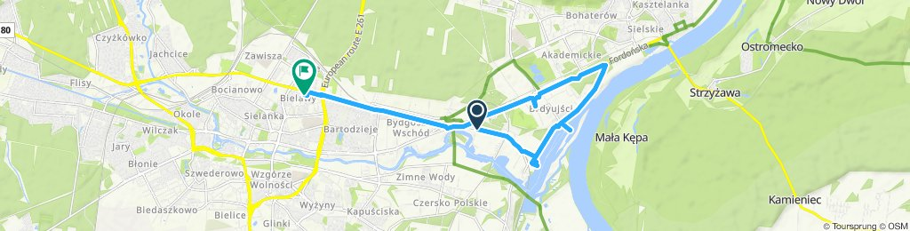 Relaxed route in Bydgoszcz