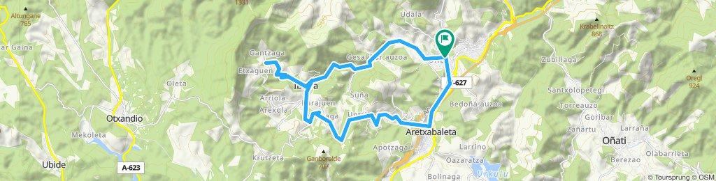 Arrasate-Aretxabaleta-Untzilla-Gantzaga-Arrasate