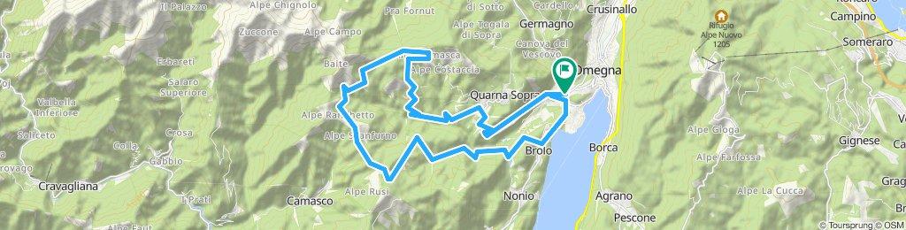 Omegna- Alpe Camasca -Alpe Sacchi