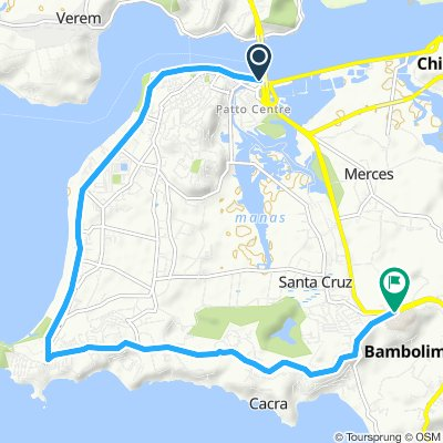 Panaji Cycling Route