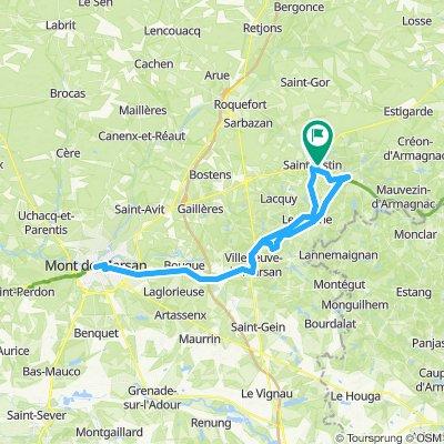 saint-justin mont de marsan 70 km
