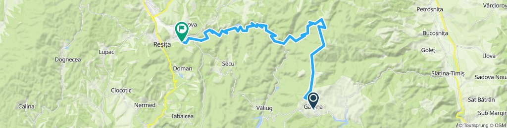 Garana - Nemanu Mare - Lindenfeld - Valea Barzavei - Lacul Secu - Resita