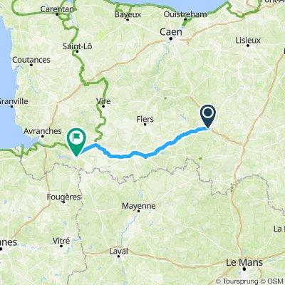 Moderate route in Fontenai-sur-Orne