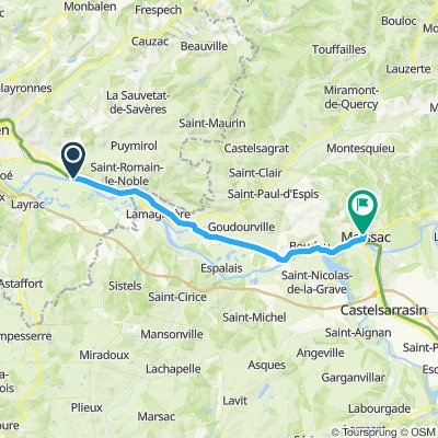 Moderate route in Saint-Jean-de-Thurac