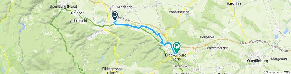 Langsame Fahrt in Blankenburg (Harz)