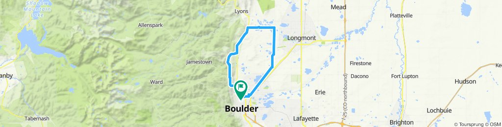 Old Stage—Hygiene route near Boulder