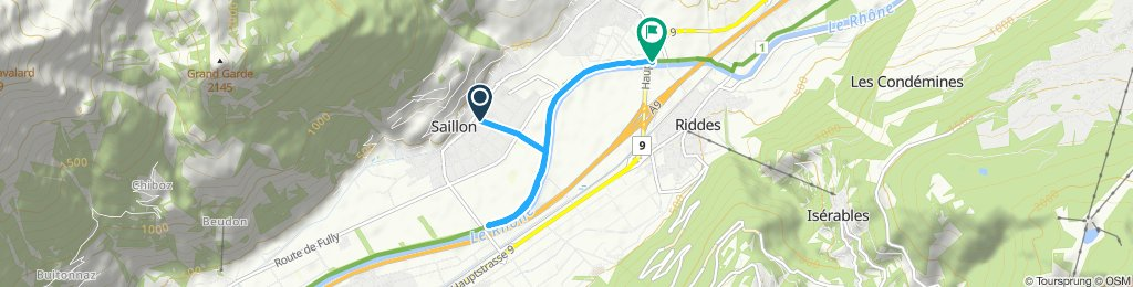 Itinéraire modéré en Saillon