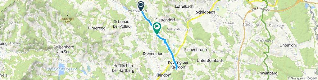 Langsame Fahrt in Pöllau