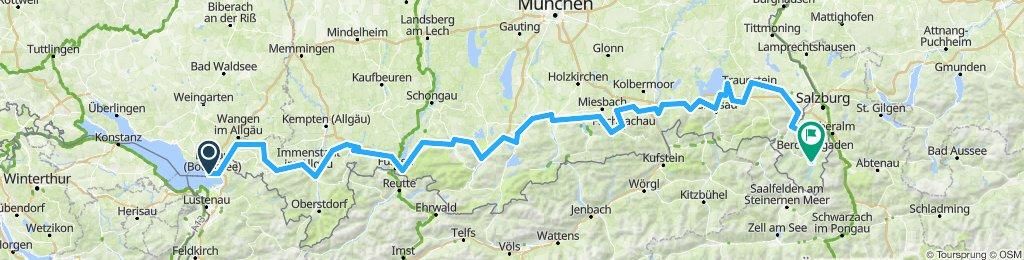 Bodensee-Königssee in 6Tagen/Etappen