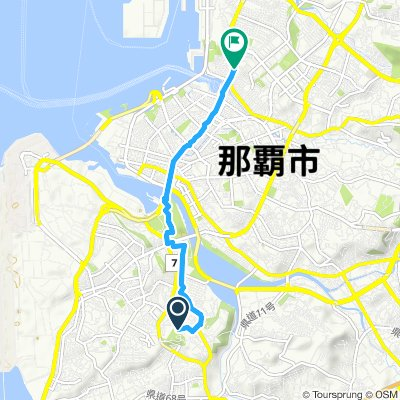 Relaxed route in Naha-Shi