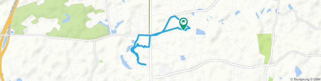Snail-like route in Wesley Chapel Trout creek