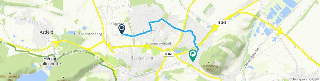 Route im Schneckentempo von Ford nach Hause in Goslar