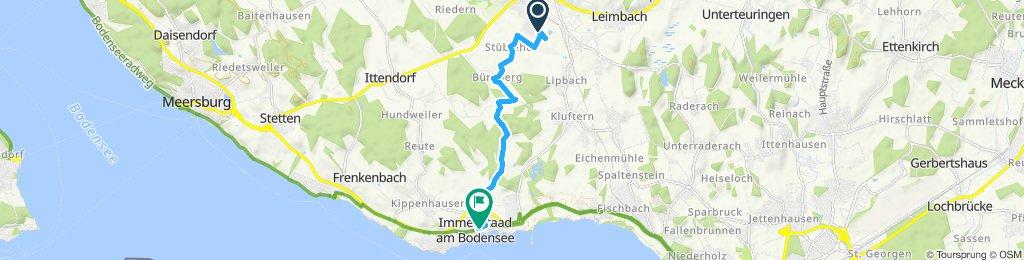 Gemütliche Route in Immenstaad