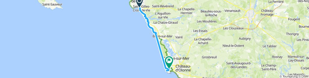 Relaxed route in Les Sables-d'Olonne