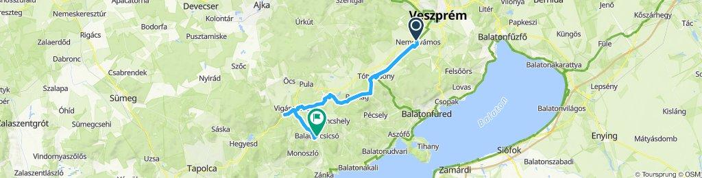 Balaton-Nordufer Tag3: Nemesvámos-Nagyvázsony-Balatoncsicsó