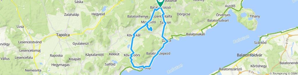 Balaton-Nordufer Tag4: Balatoncsicsó-Zánka-Balatoncsicsó