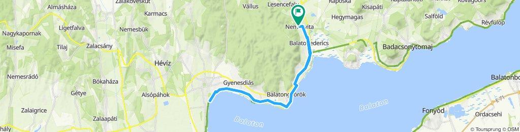 Balaton-Nordufer Tag6: Nemesvita-Keszthely-Nemesvita