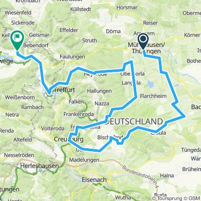 UHW 002: Mühlhausen/Thür. - Wolfsbrunnen über Berka v. d. Hainich