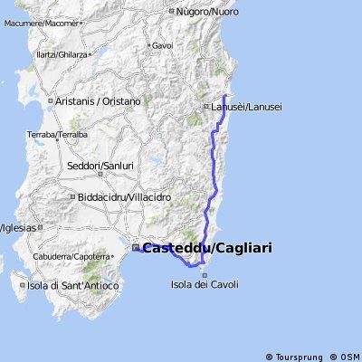 4. stage Sardegna tour - Cagliari - Villasimius - Tortolì
