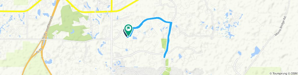 Relaxed route in Wesley Chapel