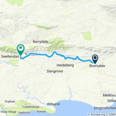 Riversdale to Swellendam