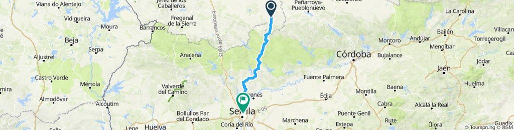 5ª Etapa camino del Rocio Azuaga-Sevilla