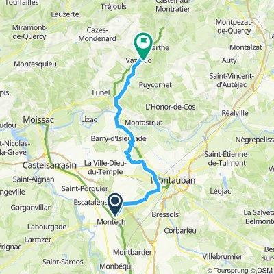 1 Etapa Montech-Vazerac Camping Latopie